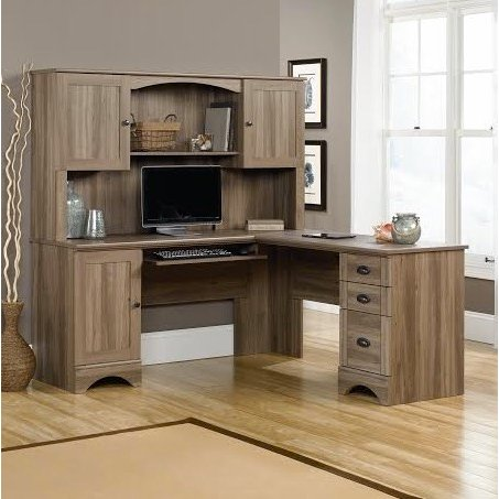 Corner Computer Desk with Hutch | RC Willey Furniture Store