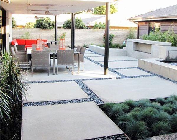 60 Concrete Patio Ideas - Unique Backyard Retreats