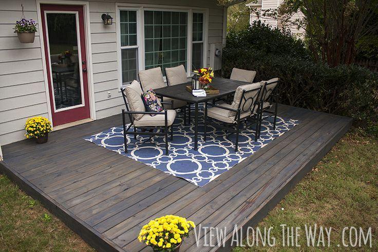 DIY Concrete Patio Cover Up Ideas | DIY Home Decor Ideas | Pinterest