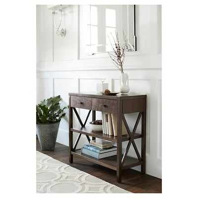 Owings Console Table 2 Shelf Espresso - Threshold™ : Target