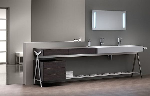 Contemporary Bathroom Vanities and Cabinets