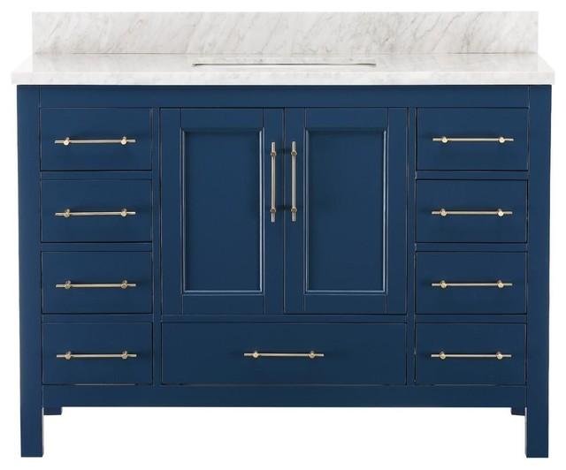 Kendall Blue Bathroom Vanity - Contemporary - Bathroom Vanities And