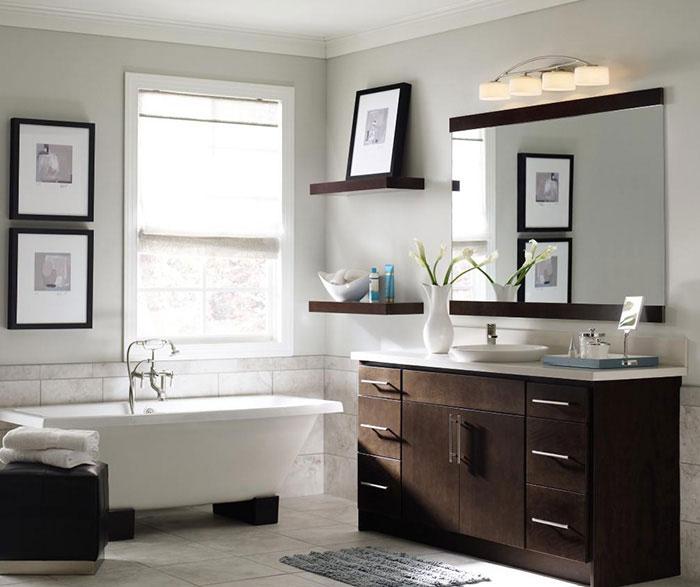 Contemporary Bathroom Vanity - Homecrest Cabinetry