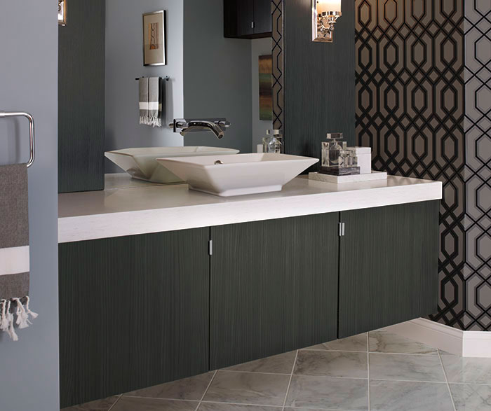 Contemporary Bathroom Vanity in Thermofoil - Kitchen Craft