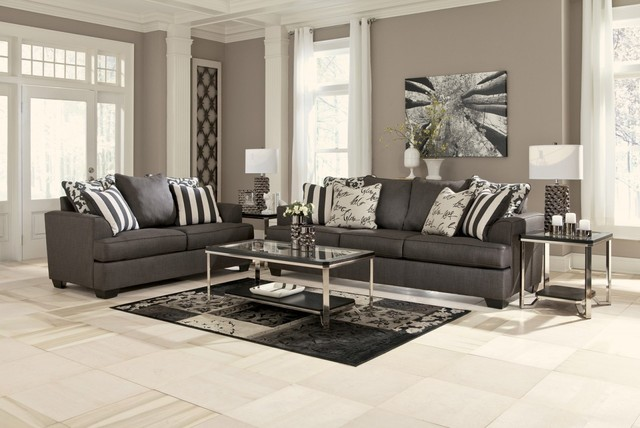 Levon 2 Piece Living Room Set - Contemporary - Living Room - New