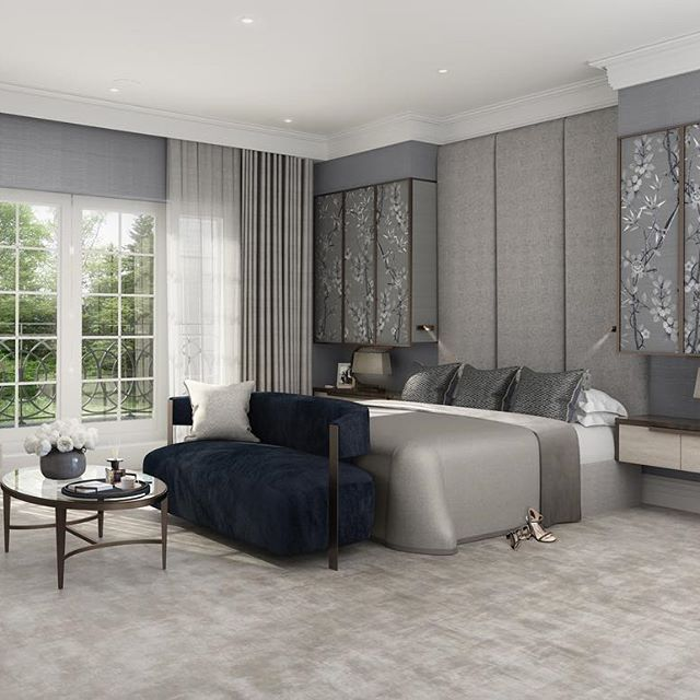 Master bedroom design in our latest townhouse project. Using