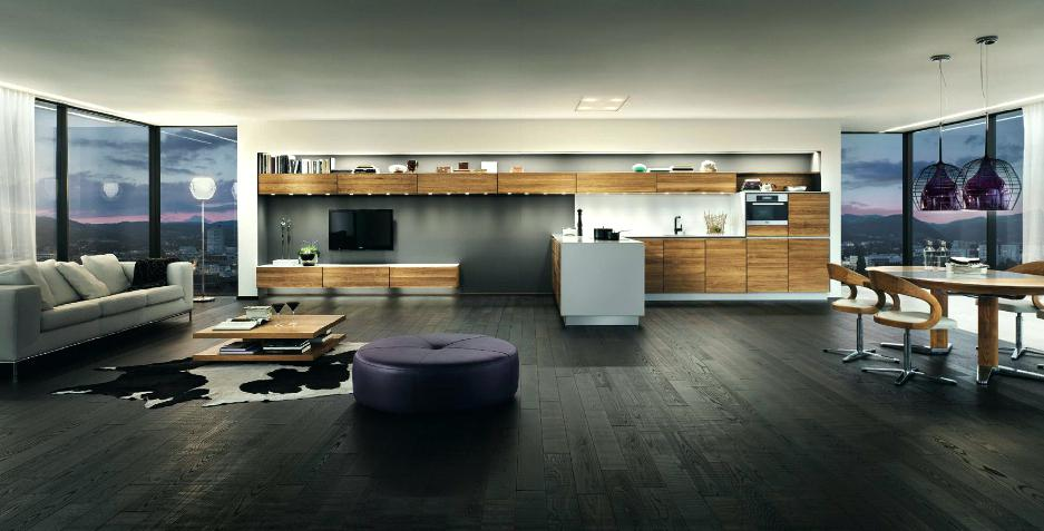 Wooden Furniture In A Contemporary Setting With Modern Apartment