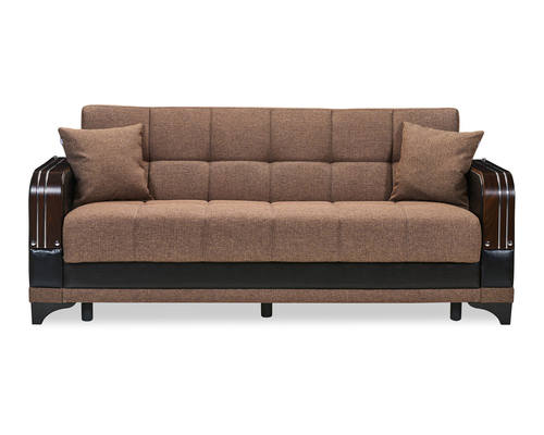Almira Comet Brown Convertible Sofa Bed by Casamode