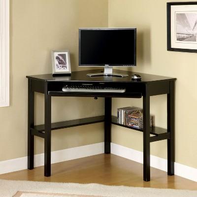 MiBasics Erona Modern Corner Computer Desk Black : Target
