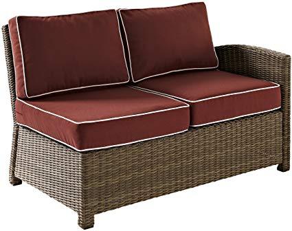 Amazon.com : Crosley Furniture Bradenton Outdoor Wicker Sectional