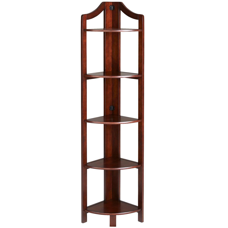 Clifton Tobacco Brown Tall Corner Shelf | Pier 1
