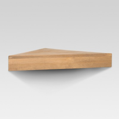Natural Wood Corner Shelf - Threshold™ : Target