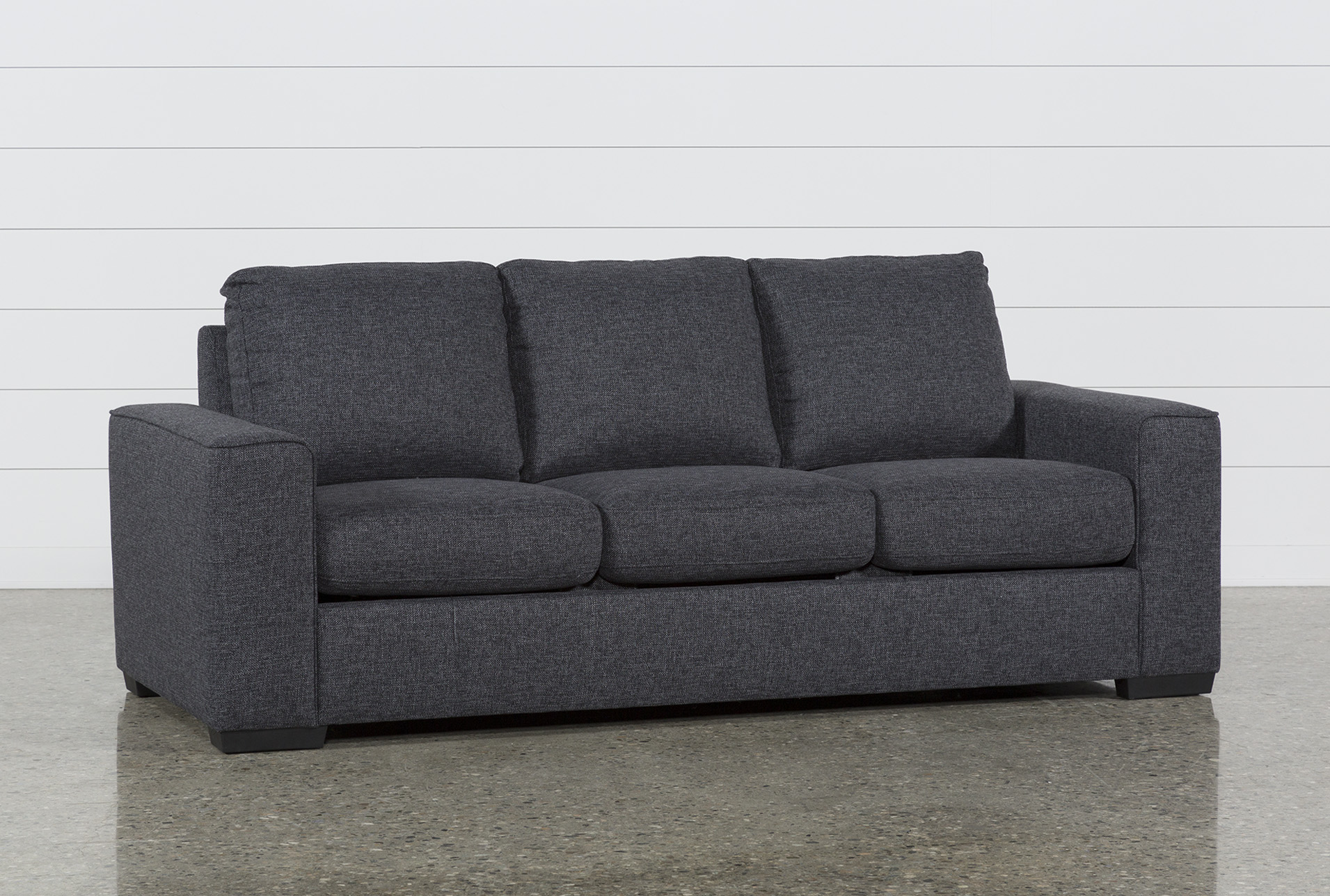 Lucy Dark Grey Sofa | Living Spaces