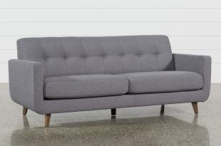 Allie Dark Grey Sofa | Living Spaces