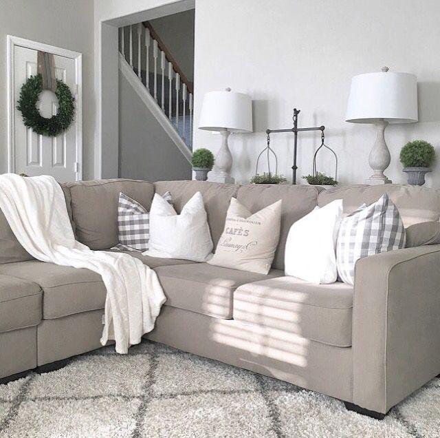 Farmhouse living room from Julie Warnock Interiors; modern farmhouse