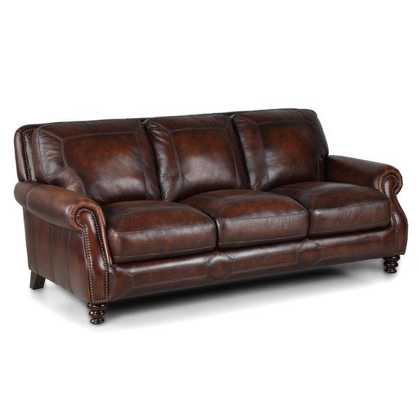 84 Inch Leather Sofa | Wayfair
