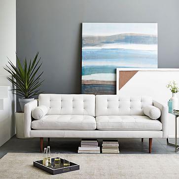 Monroe Mid-Century Leather Sofa (80
