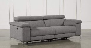Talin Grey Power Reclining Sofa W/Usb | Living Spaces