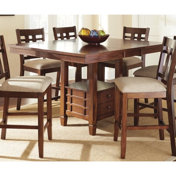 Shop Greyson Living Blake Oak Counter-height Dining Table with Leaf