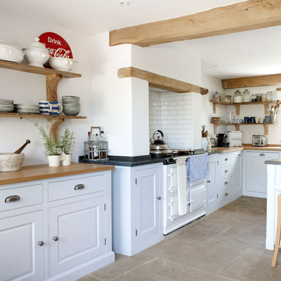 Country kitchen storage ideas | Ideal Home
