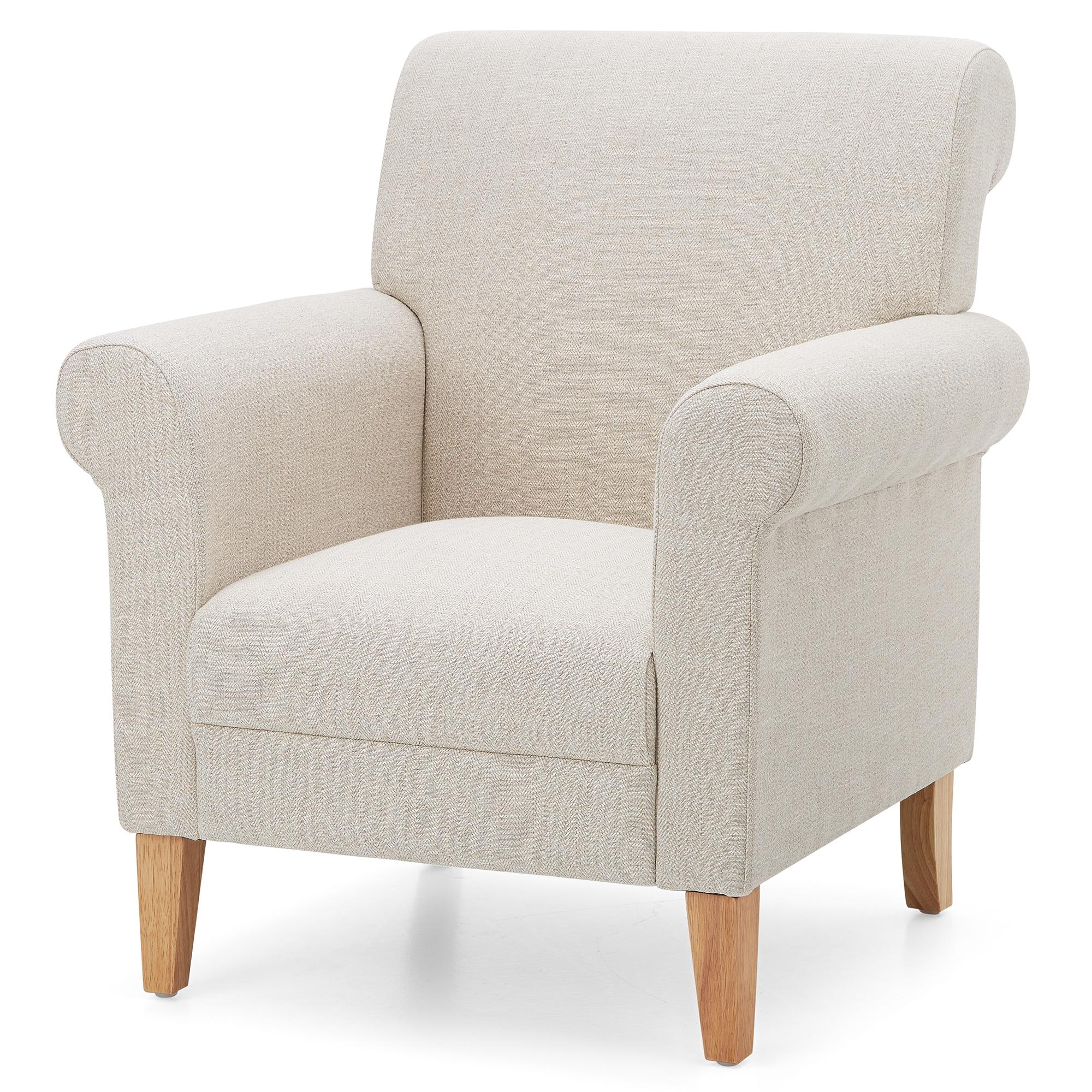 Valencia Herringbone Armchair - Cream | Dunelm
