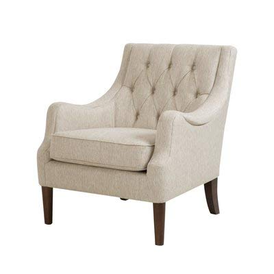 Amazon.com: Fabric Accent Chair with Square Arms - Accent Armchair