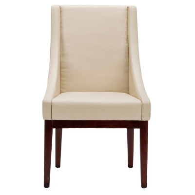 Leather Sloping Armchair Cream - Safavieh® : Target