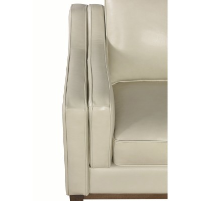Allie Top Grain Leather Armchair - Cream - Abbyson : Target