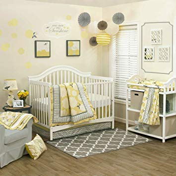 Amazon.com : Stella 4 Piece Baby Crib Bedding Set by The Peanut