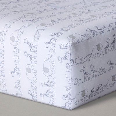 Fitted Crib Sheet Two By Two - Cloud Island™ Gray : Target