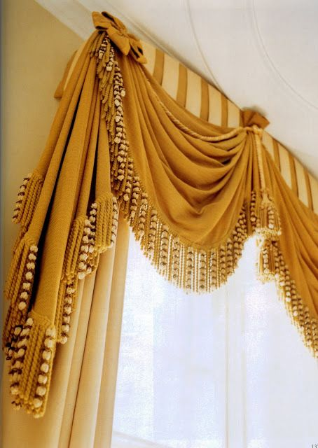 Close up of curtain details - flawlessly made, John Fowler Design