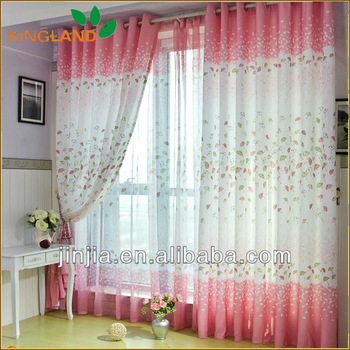 Free Sample New Fashion Lovely Style Curtain Designs Curtains India