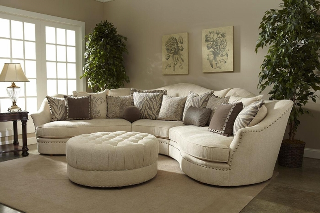 Ivory Sectional Sofa | Curved Sectional | Shop Factory Direct