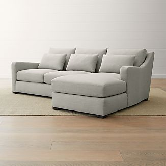 Curved Sectional Sofas | Crate and Barrel