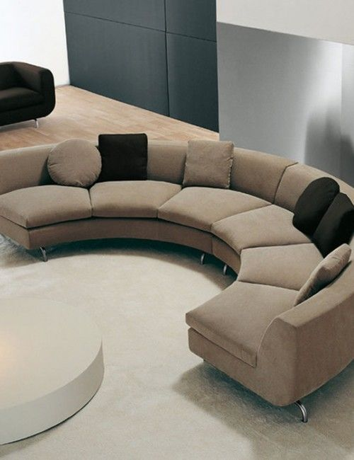 Modern curved sectional sofa | Deco | Curved sectional, Curved sofa