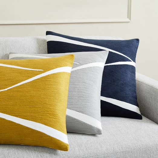 Crewel Fragments Pillow Covers   west elm