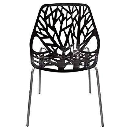 Amazon.com: Diamond Sofa Accent Chairs in Black Laser Cut - Set of 4