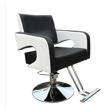 Barber's hair cut chair. Hair salons fashion beauty care chair black