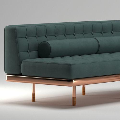 3D model Dark Green Sofa A++ | CGTrader