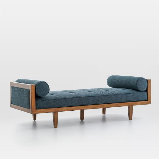 Wood Frame Tufted Daybed | west elm