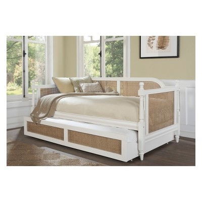 Melanie Wood And Cane Daybed Twin White - Hillsdale Furniture : Target