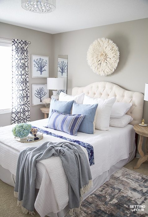 7 Simple Summer Bedroom Decorating Ideas - Setting for Four