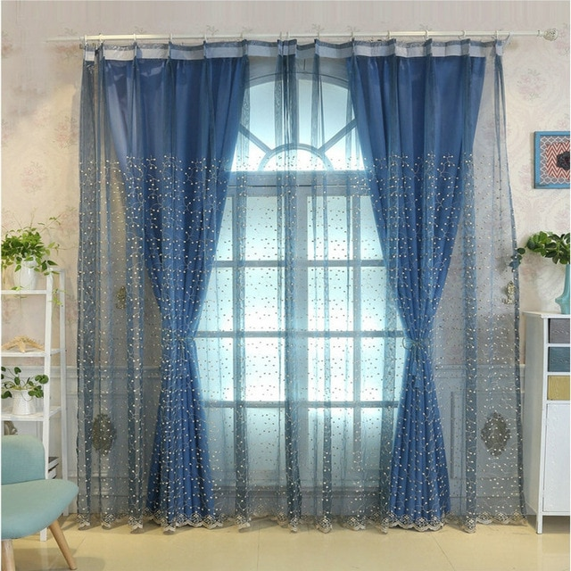 Window Treatments Solid Color Designer Curtain Tulle Screening
