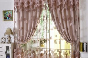 Luxury modern leaves designer curtain tulle window sheer curtain set