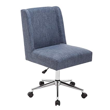 Amazon.com: Porthos Home TFC047A BLU Designer Office Chairs with