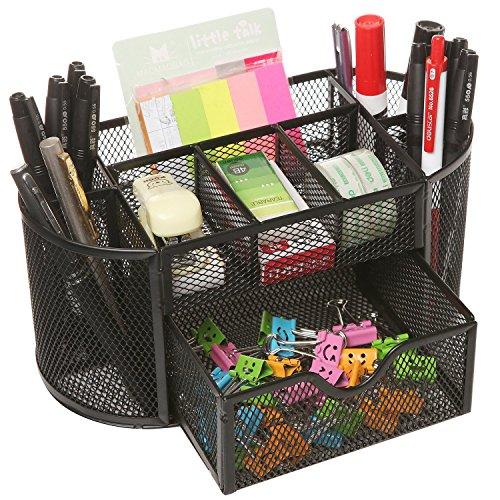 MOCREO Desk Tidy Mesh Desk Organiser Set Office Tidy Organiser Desk