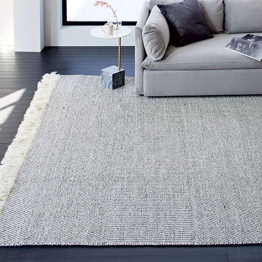 Tweed Flatweave Dhurrie Rug | west elm
