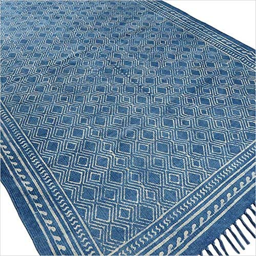 Amazon.com: Eyes of India - 4 X 6 ft Indigo Blue Cotton Block Print