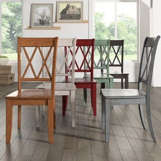 Shop Eleanor Double X Back Wood Dining Chair (Set of 2) by iNSPIRE Q