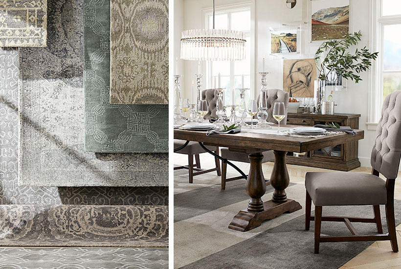 Add a twist to your dinner   with dining room rugs
